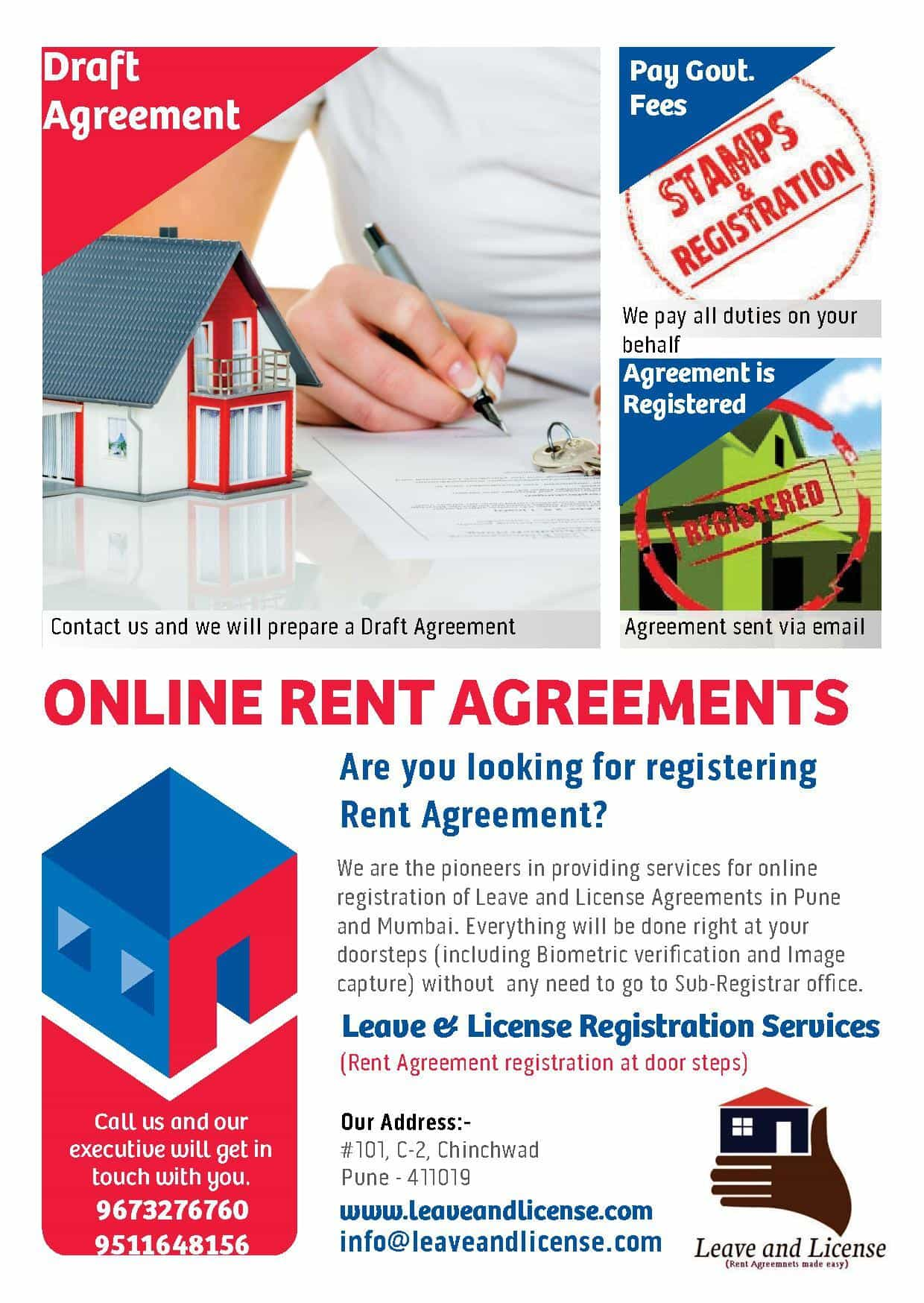 Register Leave And License Agreement When Owner Is Outside India