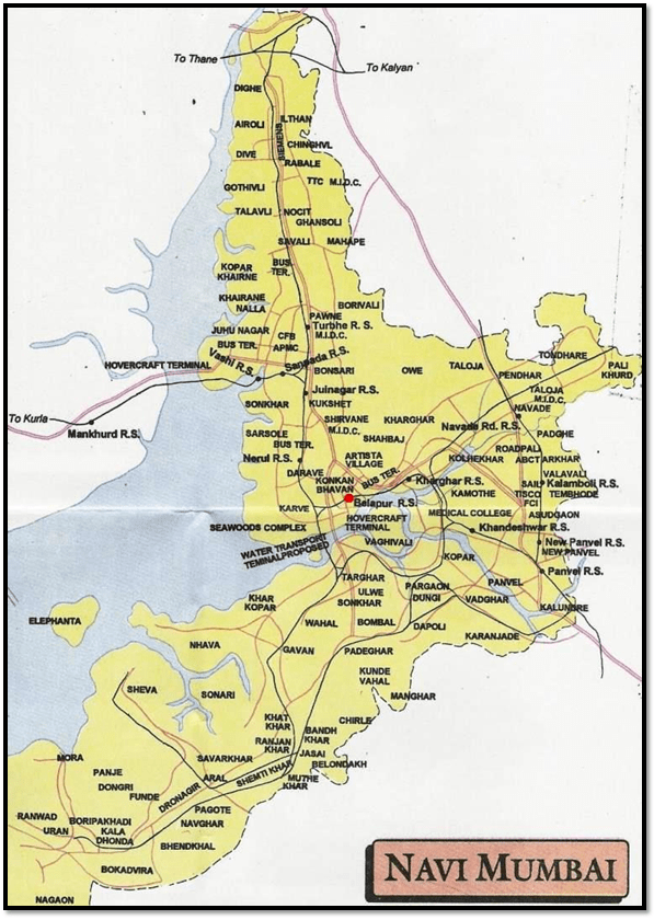 navi-mumbai-map - Leave and License Registration Services